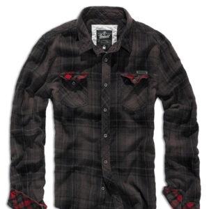 Brandit Check Skjorte (Brun / Sort, L)