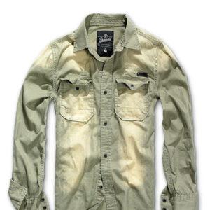 Brandit Hardee Vintage Skjorte (Oliven, XL)