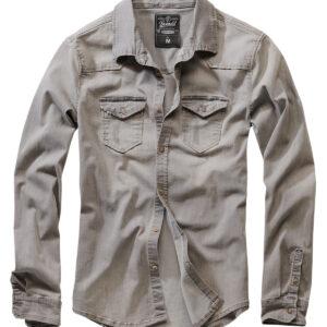 Brandit Riley Denim Skjorte (Grå Denim, 2XL)