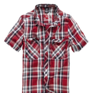 Brandit Roadstar Kortærmet Skjorte (Rød, 2XL)