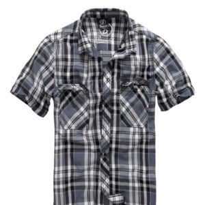Brandit Roadstar Kortærmet Skjorte (Sort / Antracit, 2XL)