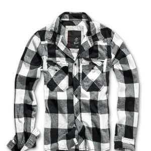 Brandit Ternet Skjorte (Sort / Hvid, XL)