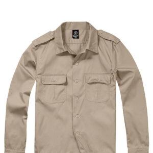 Brandit U.S. Langærmet Skjorte (Beige, L)