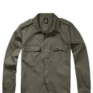 Brandit U.S. Langærmet Skjorte (Oliven, S)