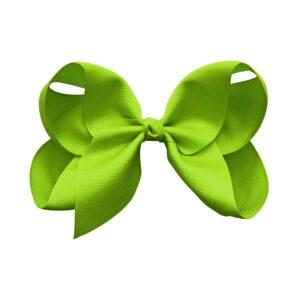 Jumbo Boutique Bow - alligator clip - apple green