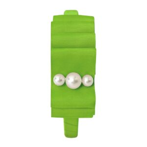 Large Milledeux® layered hair bow - Hairband - pearl / Apple Green