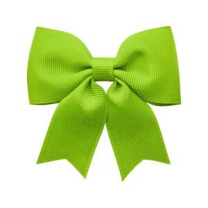 Medium bowtie bow w/ tails - alligator clip - apple green