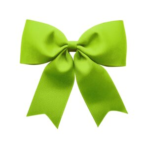 X-Large bowtie bow w/ tails - alligator clip - apple green
