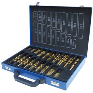 Borsæt Holzmann 1-10mm TiN-belagt 170 stk