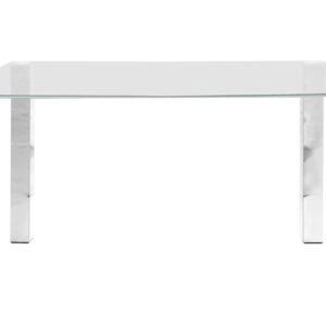Kante spisebord - glasplade, metalstel (140x90 cm)