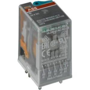 ABB Relæ cr-m024dc4l 4p dc m/led (10 stk)