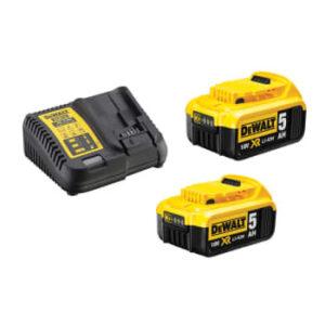 DEWALT 18v batteri-sæt, 2x5ah + lader