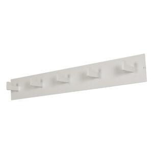 SPINDER DESIGN rektangulær Leatherman knagerække, m. 5 knager - hvid stål