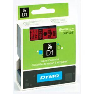 Tape D1 19mmx7m black/red