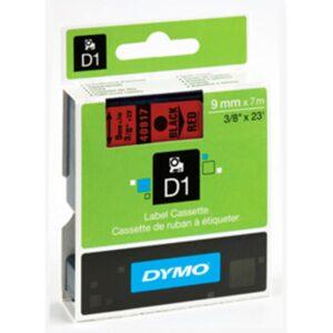 Tape D1 9mmx7m black/red