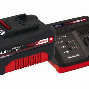 Sæt med oplader og batteri 18 V 4,0 Ah P-X-C