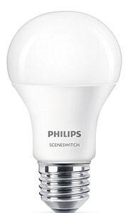 E27 - 8W LED Philips Scene Switch 3 Light Settings (3x lysstyrker indbygget)