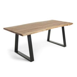 LAFORMA Sono spisebord - natur akacietræ og sort stål (200X95)