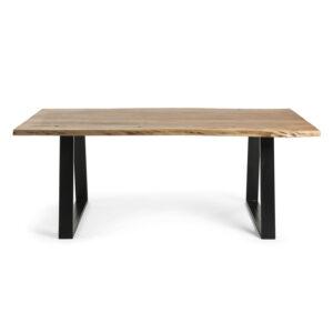 LAFORMA Sono spisebord - natur akacietræ og sort stål (220x100)