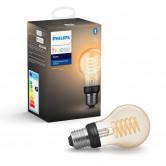 Philips Hue E27 LED-pære, Filament, White, Zigbee + Bluetooth, A+