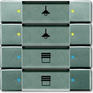 ABB Knx kontakt 4/8-tryk grå