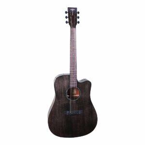 Tyma D-3CE BKS western-guitar sort