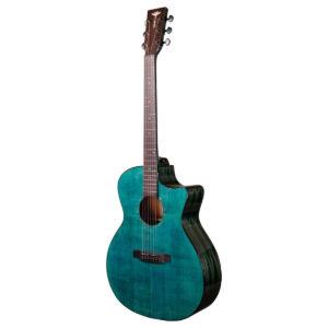 Tyma G-3E CB western-guitar blå
