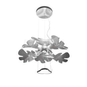 Artemide CHLOROPHILIA Pendel Poleret Krom Krop, Gennemsigtig Skærm