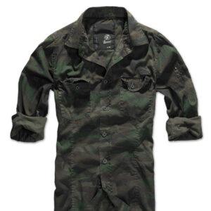 Brandit Slim Fit Vintage Skjorte (Woodland, 3XL)