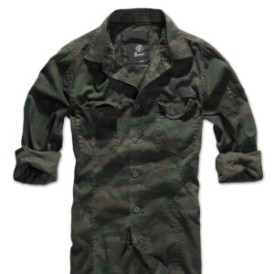 Brandit Slim Fit Vintage Skjorte (Woodland, S)