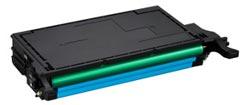 Samsung CLT C508L C Lasertoner, Cyan, Kompatibel, 4000 sider