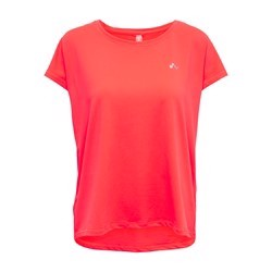 ONLY PLAY Loose Training Tee Opus Fiery Coral