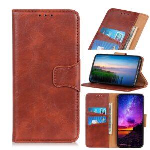 Samsung Galaxy A20E - Ægte læder cover / pung - Brun