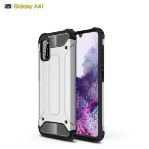 Samsung Galaxy A41 - Armor Guard Hybrid cover - Sølv