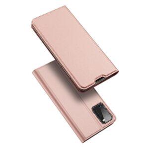 Samsung Galaxy A41 - DUX DUCIS skin pro læder cover - Rosa