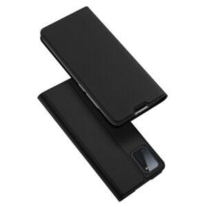 Samsung Galaxy A41 - DUX DUCIS skin pro læder cover - Sort