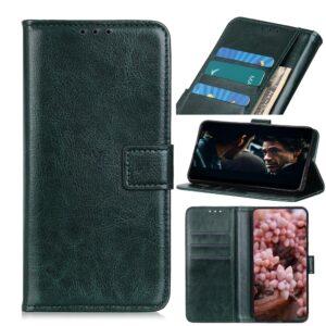 Samsung Galaxy A41 - Læder cover / pung - Grøn