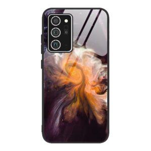 Samsung Galaxy Note 20 Ultra / Ultra 5G - Hybrid cover med bagside af glas - Marmor Design - 01