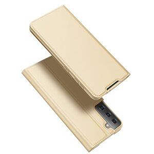 Samsung Galaxy S30 / S21 - DUX DUCIS Skin Pro læder cover - Guld