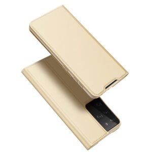 Samsung Galaxy S30 Ultra / S21 Ultra - DUX DUCIS Skin Pro læder cover - Guld