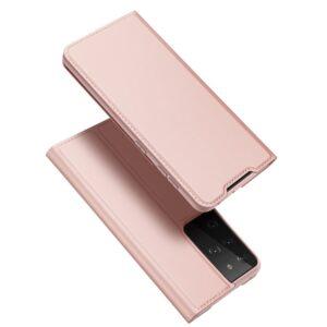 Samsung Galaxy S30 Ultra / S21 Ultra - DUX DUCIS Skin Pro læder cover - Rosa