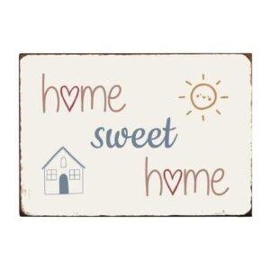 Emaljeskilt - Home sweet home