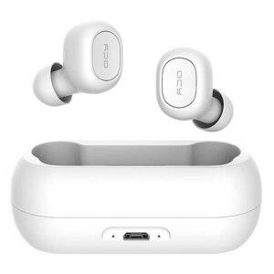 QCY T1C IPX4 Vandafvisende In-Ear Earbuds, Hvid
