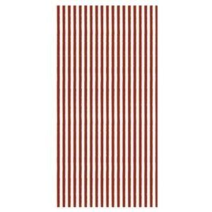 Papirserviet rød og hvid stribet