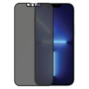 PanzerGlass iPhone 13 Pro Max AntiBacterial CamSlider Privacy Skærmbeskyttelse, Sort Kant