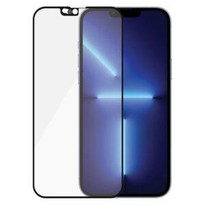 PanzerGlass iPhone 13 Pro Max AntiBacterial CamSlider Skærmbeskyttelse, Sort Kant
